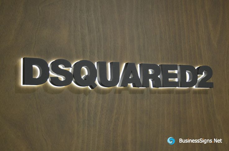 3D LED Backlit Signs With Painted Stainless Steel Letter Shell & 20mm Thickness Acrylic Back Panel For DSQUARED2.  If you need to custom signs like this, please click the image then fill out the form and tell us your needs now.