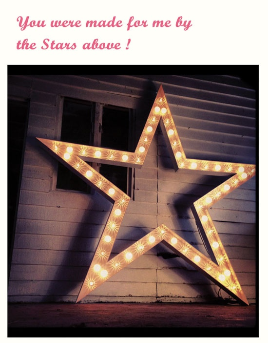 ♥♥ LARGE LIGHT UP STAR! Our HUGE light up star. Filled with white and clear funfair style bulbs. Comes with dimmer to set the mood. This huge star makes an amazing impression. HIRE £220