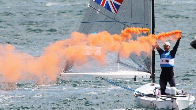 Ben Ainslie winning his 4th Olympic gold medal !!!! #sailing