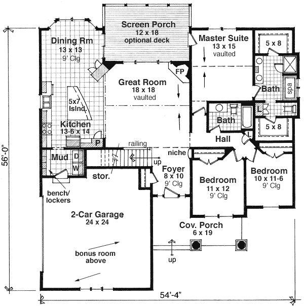 Plan 14566RK One Story Craftsman Home