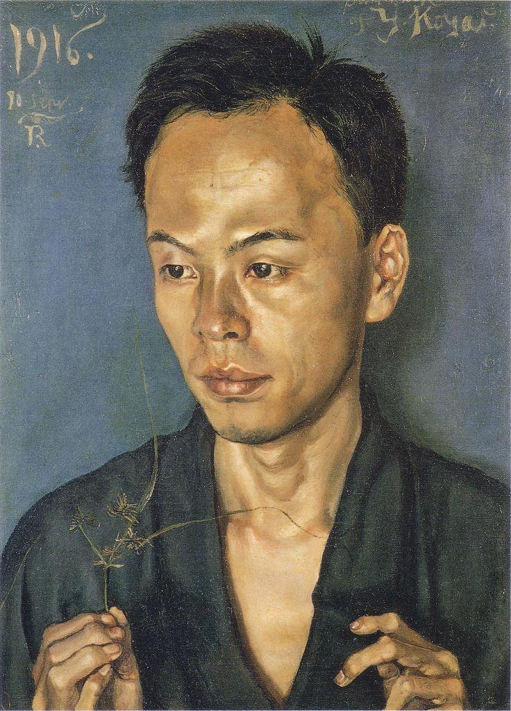 岸田劉生「古屋君の肖像(草を持てる男の像)」(1916) | Flickr - Photo Sharing!