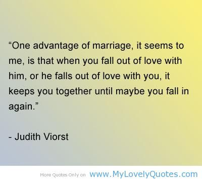 One advantage of marriage - happy marriage quotes