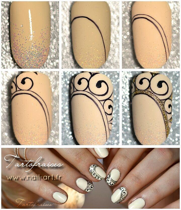 Step by Step en détail sur mon blog www.nail-art.fr #tartofraises #nailart…