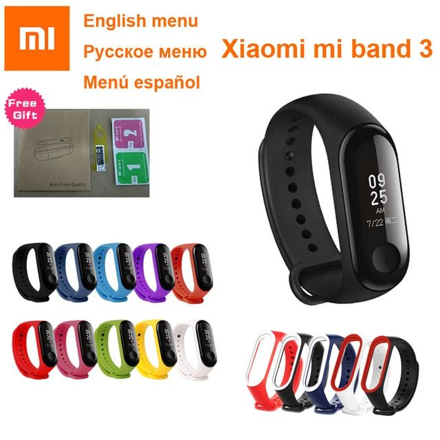 Xiaomi Mi Band 3 Samrt Bracelet Fitness Tracker Miband Ativity Correa Pulseria Wristband Fit Touch Screen 50m Waterproof Mi Fitness Tracker Xiaomi Touch Screen