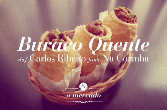 "Buraco Quente by chef Carlos Ribeiro - @ ""O mercado"" http://pinterest.com/pin/248894316876603573/ an after night gastronomic fair @ Rua Minas Gerais, 352 - Higienópolis, Sao Paulo. April 21-22, 00hs - 05hs"