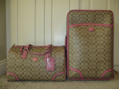 mens air max 2013 Coach Luggage Travel Set   Coach Signature Roseberry Peyton Travel Bag Duffle Suitcase Wheelie