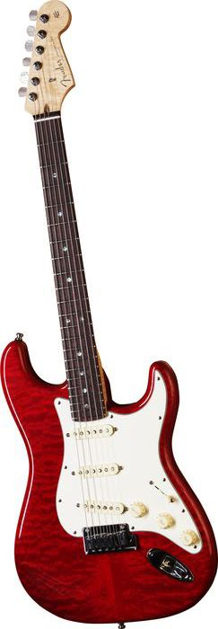 Fender Custom Shop 2012 Custom Deluxe Stratocaster Candy Red Rosewood Fretboard | Musician's Friend