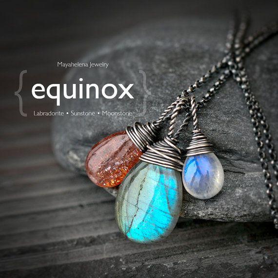 The Equinox   Labradorite Moonstone and Sunstone by Mayahelena