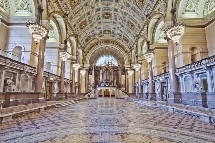 Here is an hdr photograph taken from St George's Hall during the annual minton floor reveal.  Located in Liverpool, Merseyside, England, UK.