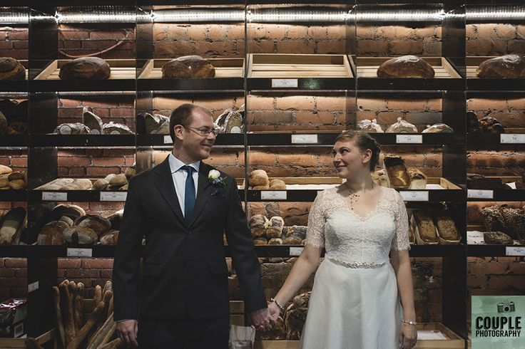 hanging out by the homemade bread stand. Real Wedding by Couple Photography