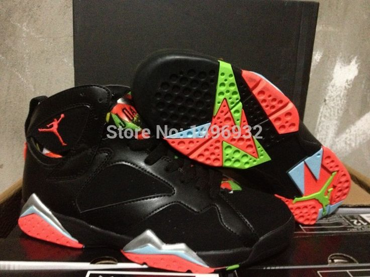 Fashion from china jordan 7 men basketball shoes retro 7 Newest Marvin the Martians  7s top