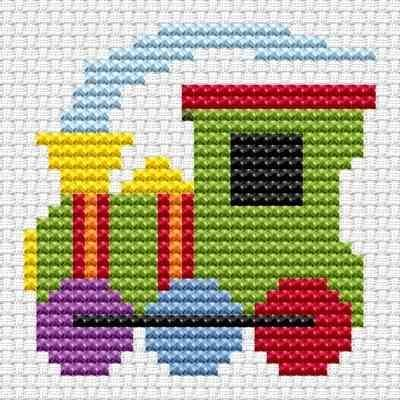 Train cross stitch kit