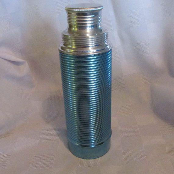 Vintage Swiss Made Treos Theos Aluminum Thermos by KlinknKlunk, $12.00