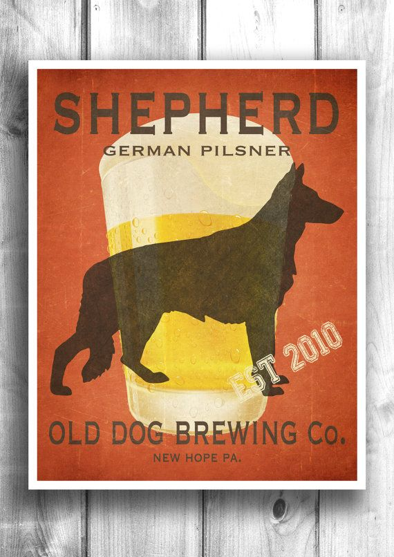 Typographic print Beer poster Wall decor Wall by HappyLetterShop
