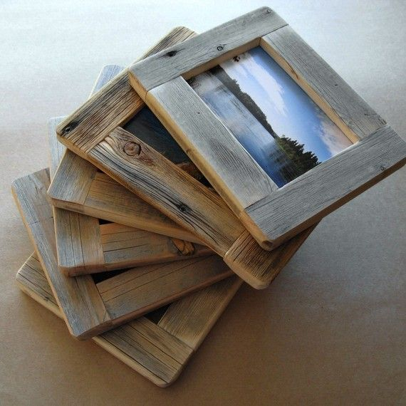 Our solid wood frames are handcrafted here on Paradise Hill from weathered aged wood which we have reclaimed ourselves from old cabins and fences in our area. Most of them are of old pine, some of old fir. They are built to last, held together by hidden screws, the holes filled with solid wood dowelling.