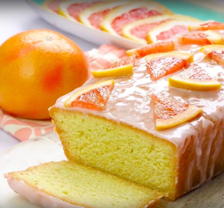 Gin and pink grapefruit tonic loaf cake - G&T loaf cake - Gin cake recipe - Good Housekeeping