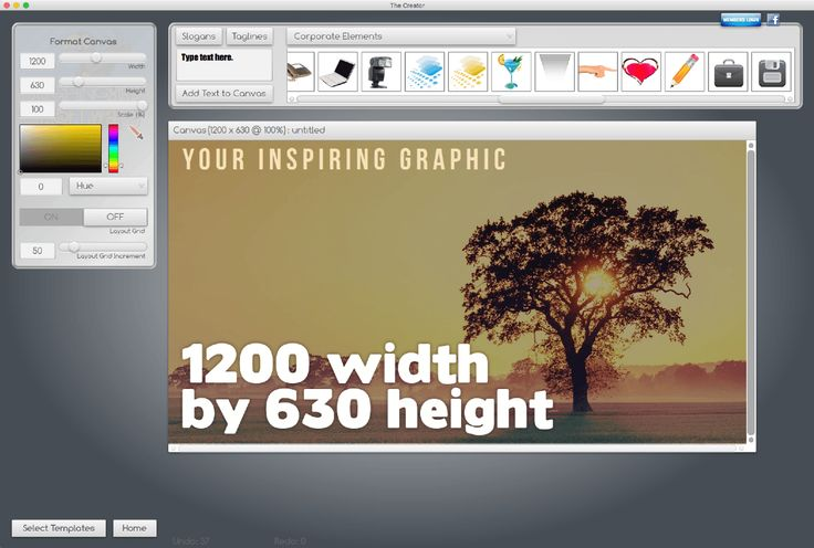 Create perfectly sized graphics with Laughingbird Software's The Creator