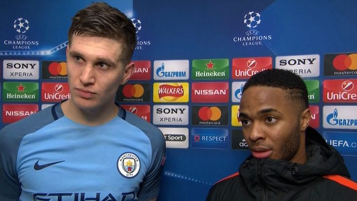 Manchester City 5-3 Monaco - Raheem Sterling & John Stones Post Match In...