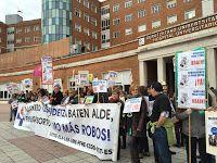UGT junto con otros sindicatos exige la devolución de los derechos perdidos de los trabajadores de Osakidetza.
