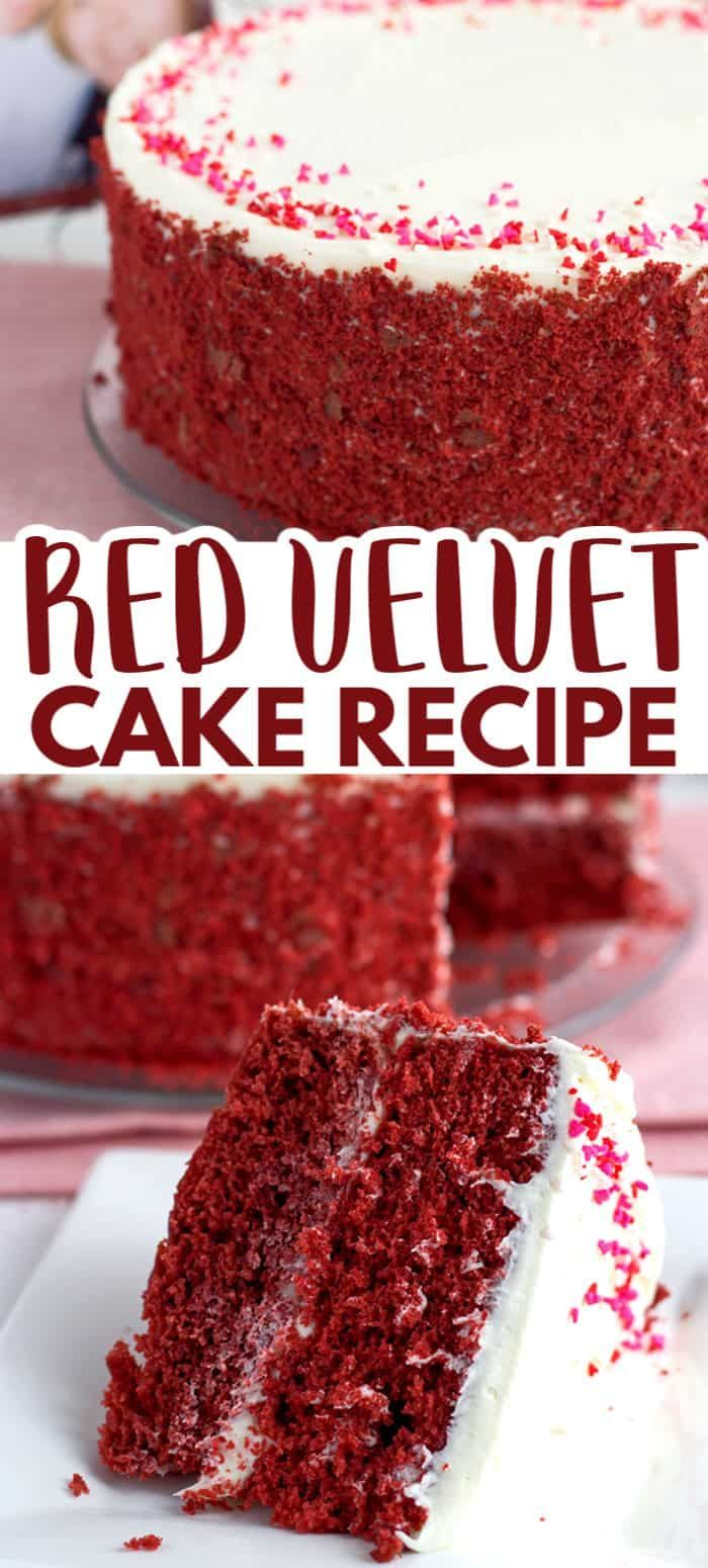 Red Velvet Cake With White Chocolate Frosting This Fluffy Homemade Red Velvet Cake Is The Perfect Valent In 2020 Red Velvet Cake Recipe Cake Recipes Red Velvet Cake