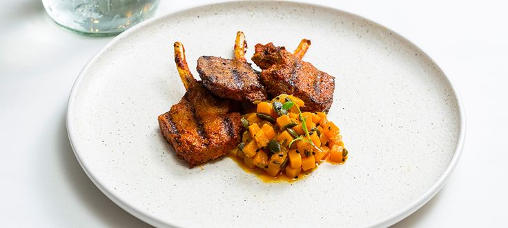 Learn how to make minted lamb chops with pickled pumpkin using Great British Chefs' recipe by Peter Joseph. Get inspired & cook with Sarson's Malt Vinegar.