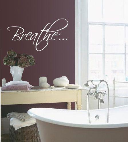 big bath tub breath bathroom relax vinyl wall quote by 7decals