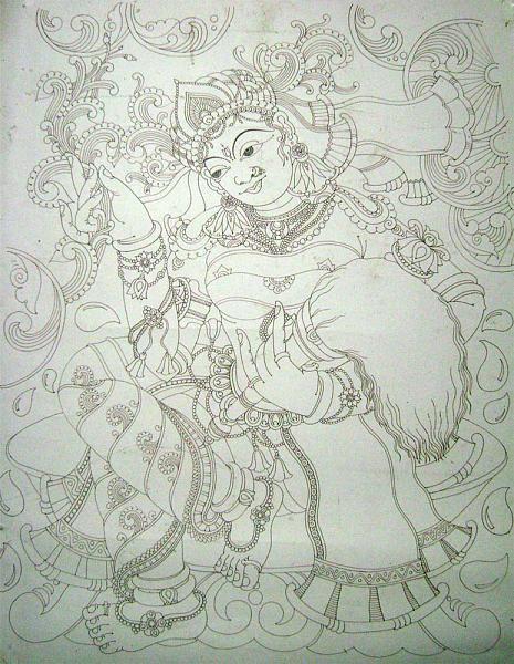 Indian Painting Styles...Kerala Mural Painting.
