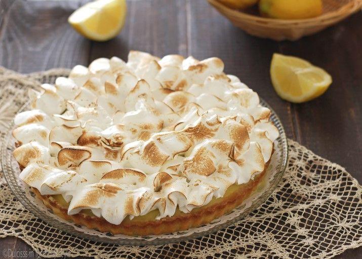Lemon Meringue Pie o Crostata meringata al limone: un dolce superbo ed elegante, profumatissimo. Ricetta del Maestro Ernst Knam. Una vera delizia !