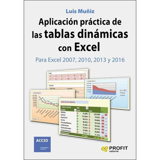 Profit Aplicación Práctica De Las Tablas Dinámicas Con Excel Para Excel 2007 2010 2013 Y 2016 Tabla Dinámica Hojas De Cálculo Tablas