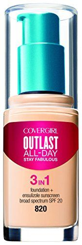 COVERGIRL Outlast All-Day Stay Fabulous 3-in-1 Foundation Creamy Natural, 1 oz