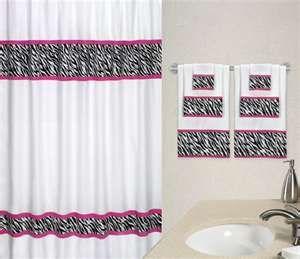 Zebra Print And Pink Bathroom Set