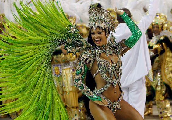 Every year, just before Easter, Brazilians go out in the street, masked, dancing in the Samba rhythm, celebrating the Hedonism. The explosion of colors and the magical sound are the characteristics of the carnival in Rio.