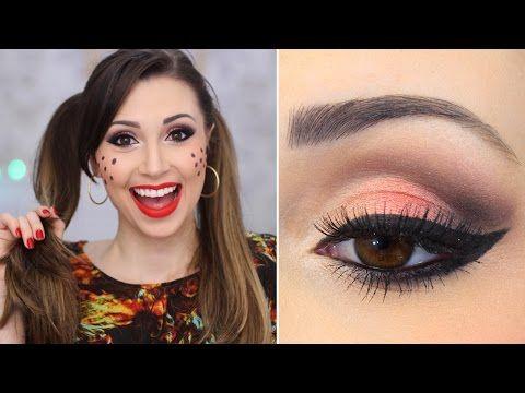 Maquiagem para Festa Junina com olho e boca tudo! - Jana Taffarel - YouTube