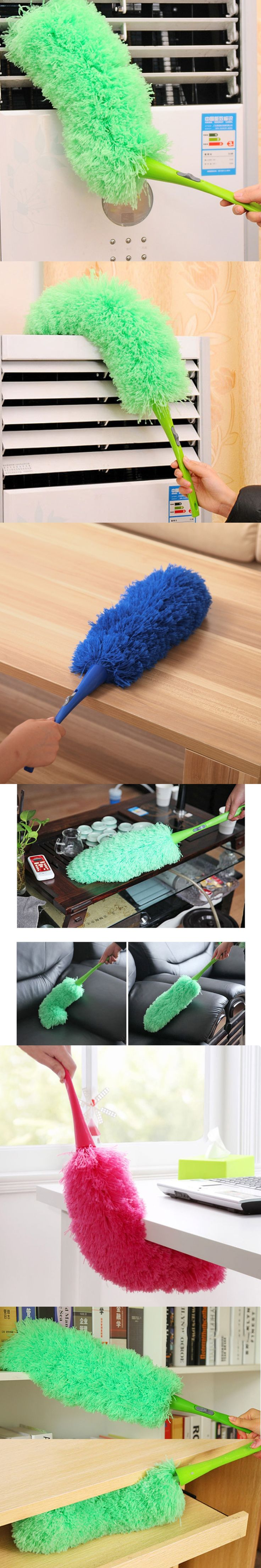 Pop Soft Microfiber Cleaning Duster Dust Cleaner Handle Feather Static Anti Magic Household Cleaning Tools