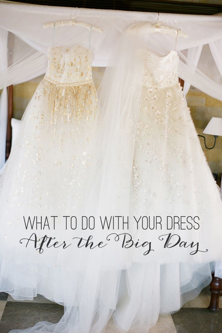 everything you ever needed to know about what to do with your wedding dress