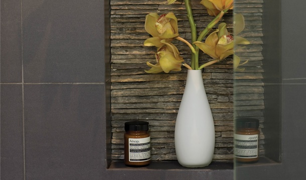 Bathroom Inspiration | Retreat Style Bathroom in Moonee Ponds - VIC | Reece Bathrooms- featured shower niche