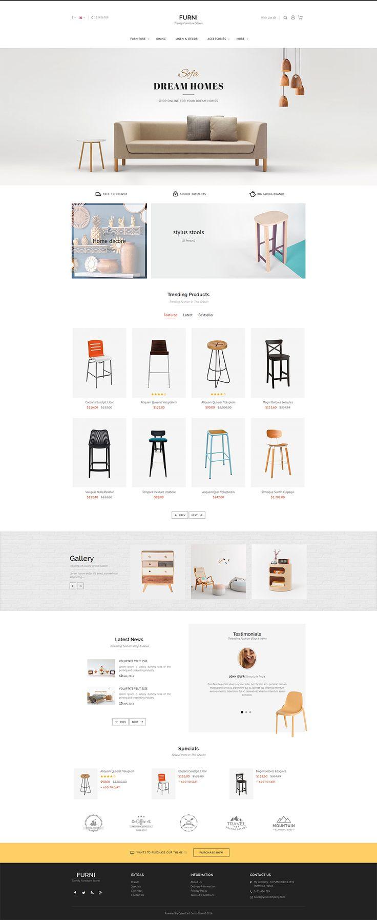 #Furniture #eCommerce #Modern - #Opencart Multi Purpose #Responsive #Theme