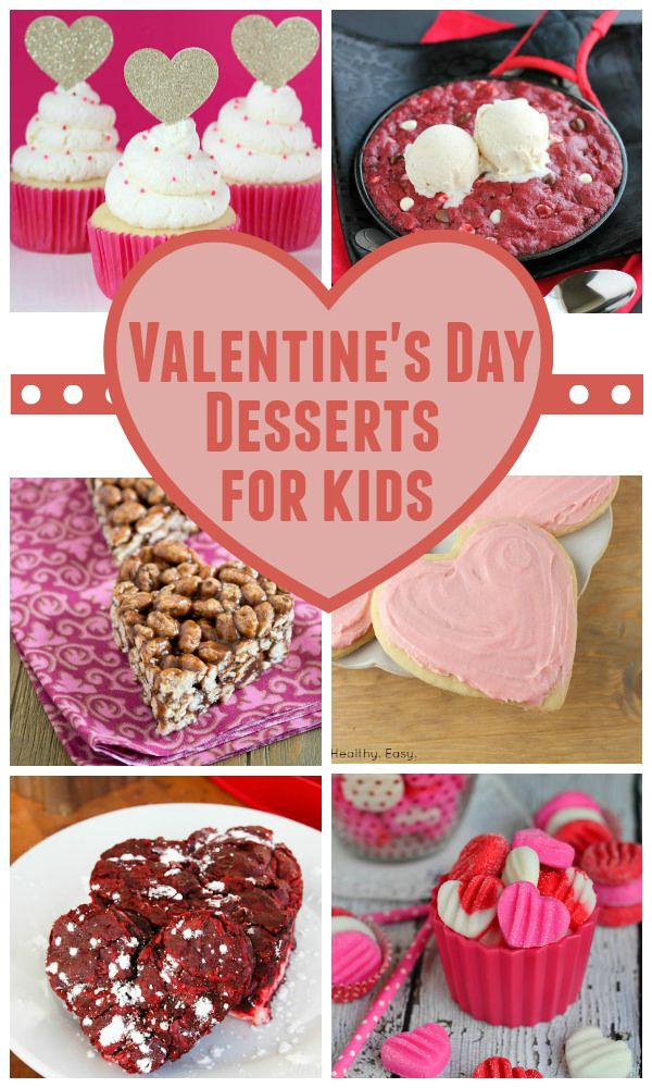 A round-up of the best Valentine's Day dessert recipes for kids! Including red velvet brownies, mini cheesecakes, truffles, cupcakes and more!
