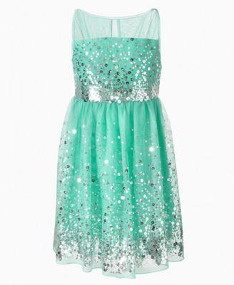 Ruby Rox Kids Dress, Girls Sequin Illusion Dress flower girls and ring bearers   Big Fashion Show kids dresses