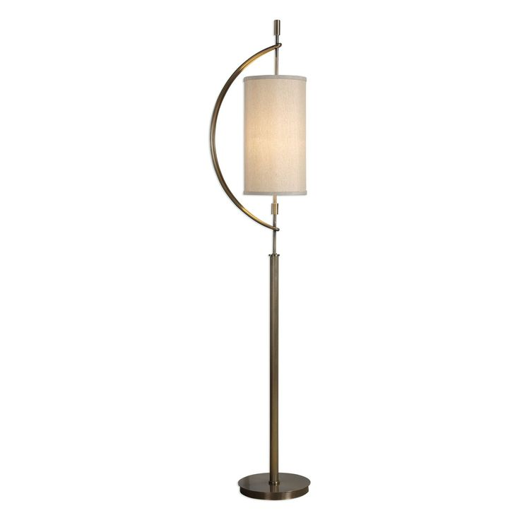 Balaour Contemporary Antique Brass Floor Lamp by Uttermost
