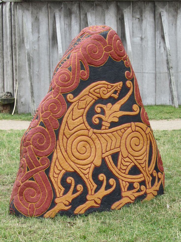Viking Dragon Stone.  Viking art work is so unique and amazing.