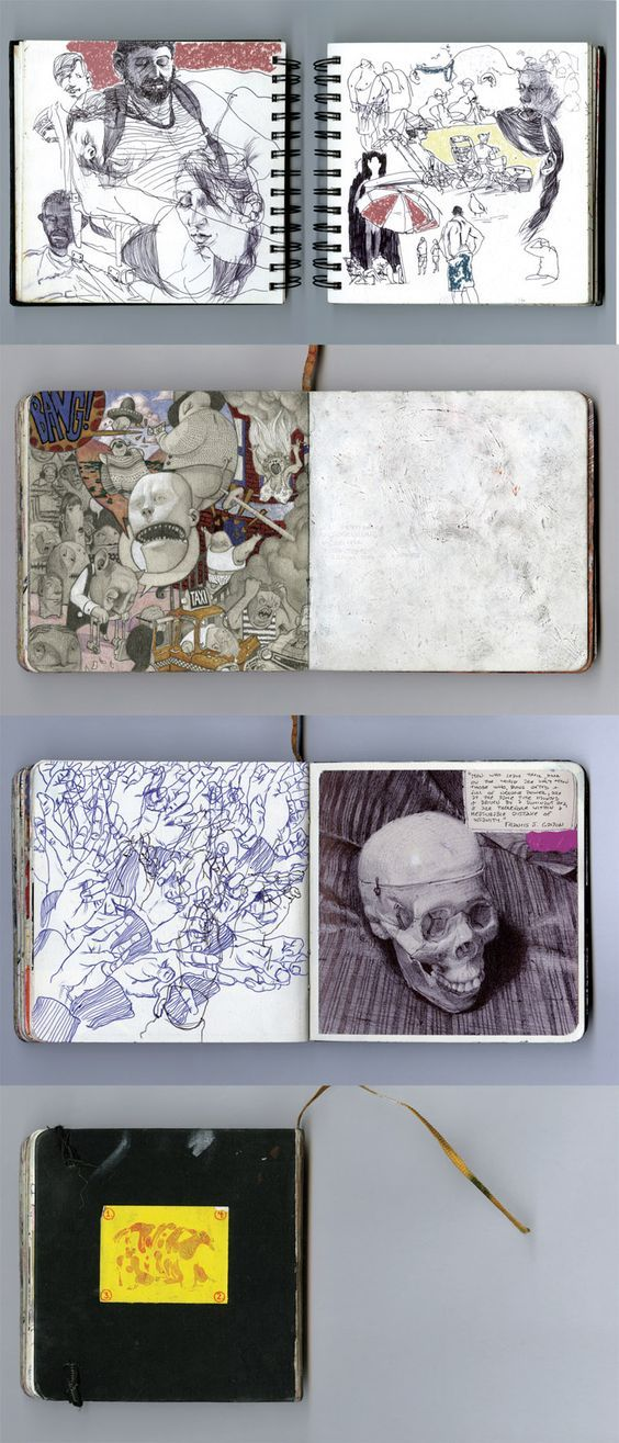 Sketchbook by Matthew Filipkowski https://www.behance.net/gallery/17247881/Selected-Sketchbook-Pages-Set-3