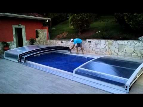 10 best rolling deck pool cover images on pinterest - Covering a swimming pool with decking ...