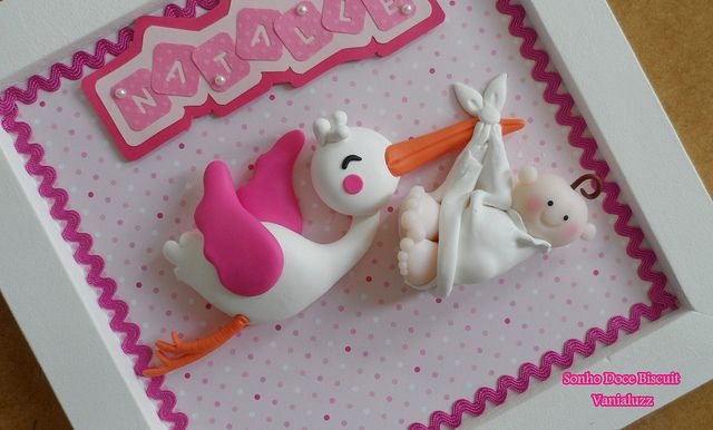 Porta Maternidade Cegonha | Flickr - Photo Sharing! ~ Stork with Baby ~