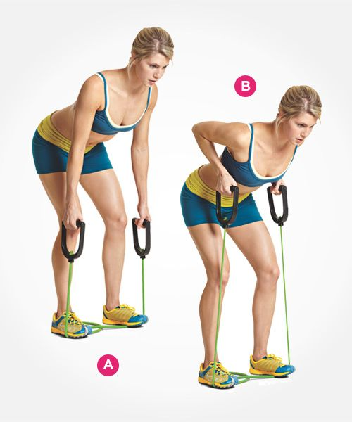 resistance band bent over row demonstration and other exercises to get you fit!
