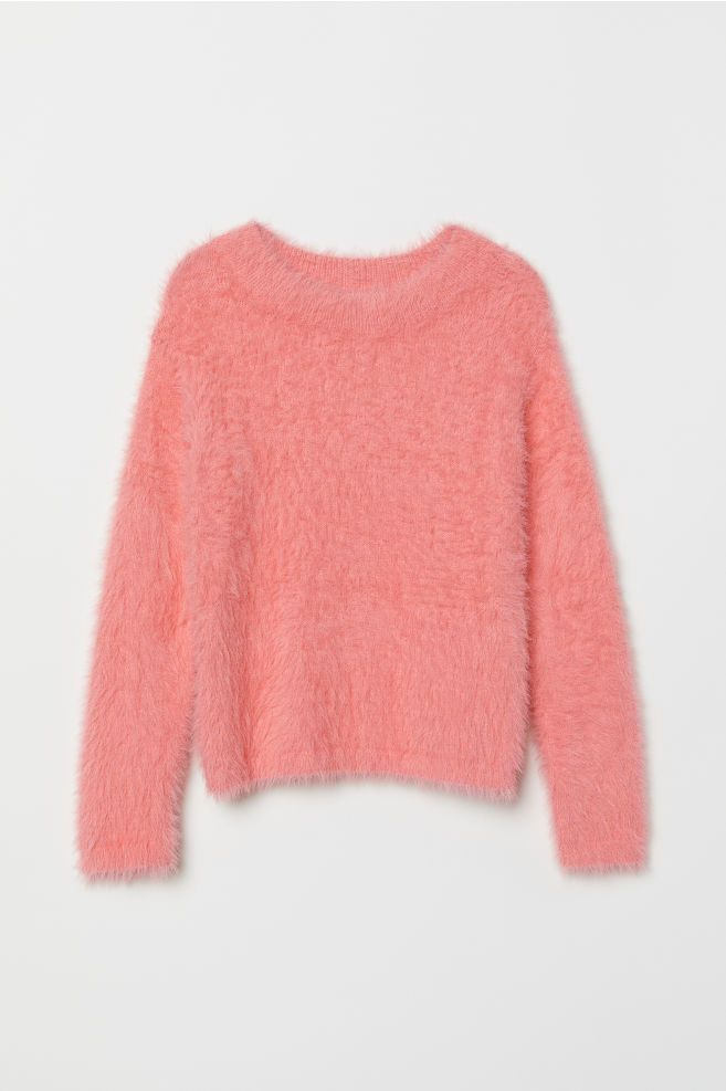 Fluffy Sweater Pink | H&M US | Pullover sweater women