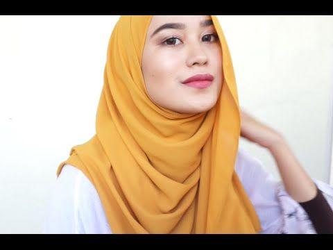 Side Loose Shawl Tutorial | Kiena Suhaimi - YouTube