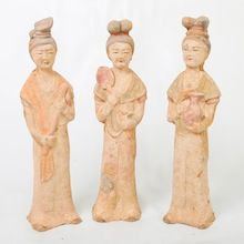 Slim Terracotta Chinese Statuettes.   Visit our online showroom for this and other items.