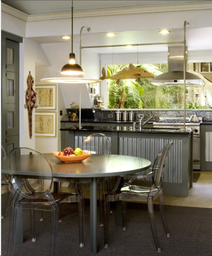50 Bold And Inventive Dining Rooms With Brick Walls: Industrial Style Kitchen, Industrial Decor