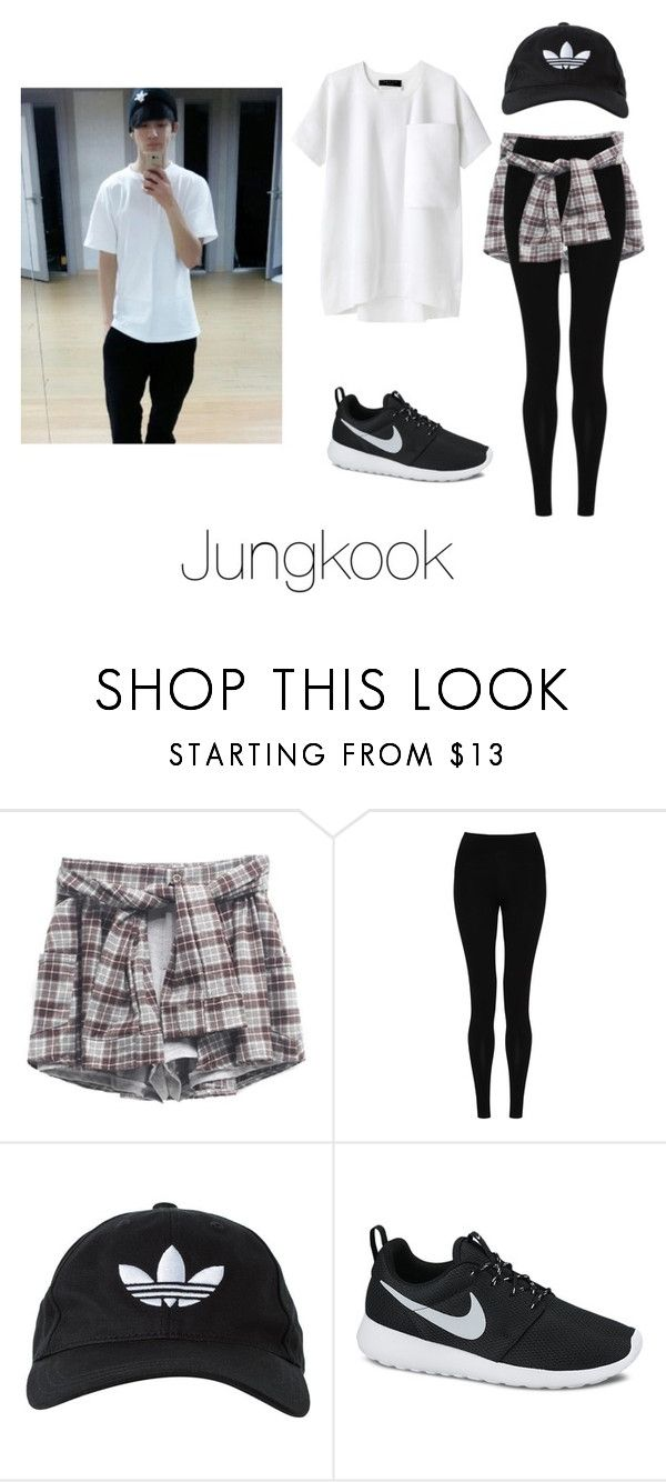 """Dance Practice with Jungkook"" by btsoutfits ❤ liked on Polyvore featuring M&S Collection, adidas Originals, NIKE and rag & bone"